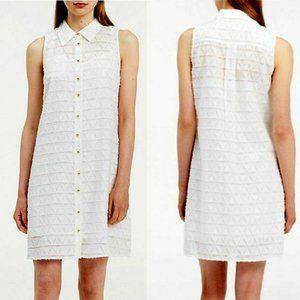 Calvin Klein Women's White Textured Trapeze Dress
